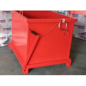 Container cu fund basculant pentru deseuri