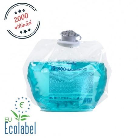 Sapun spuma eco-rezerva  de 800 ml