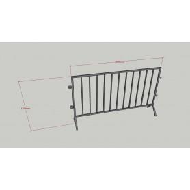 Gard protectie metalic 2000x1200mm