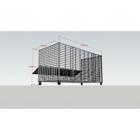 Container deseuri mase plastice 2500x1200x1200mm