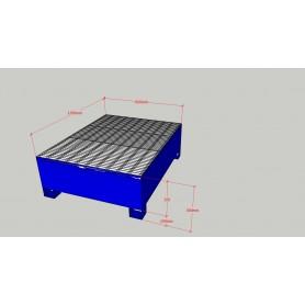 Cuva de retentie cu gratar detasabil pentru butoaie 200 de litri si recipientelor mici